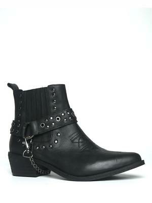 Yru Laso Ladies Leather Silver Boots