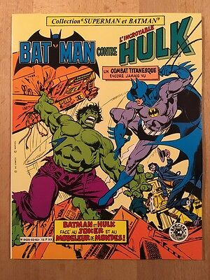 Batman contre Hulk - Sagédition - 1982 - NEUF