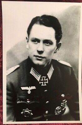 Ernst Neufeld Stalingrad signed Knights Cross Photo
