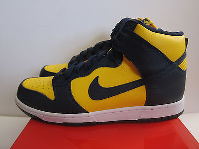 Sale Nike Dunk Retro Qs Michigan Be True Sz 9.5 Navy Yellow 850477-700