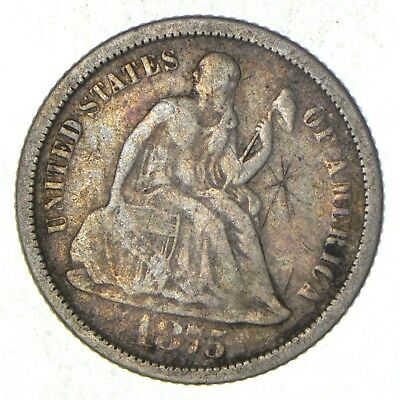 Full Liberty - 1875-S Seated Liberty Silver Dime *017