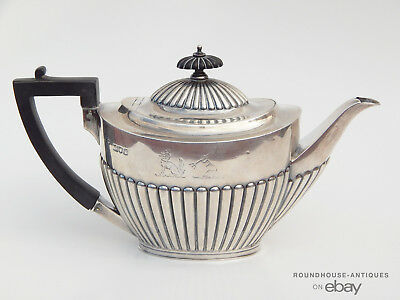 Antique English Sterling Silver Teapot Kettle Goldsmith & Silversmith 508 Grams