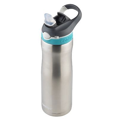 Contigo AUTOSPOUT Ashland Chill Water Bottle 20oz Scuba Blue w/ Straw Insulated