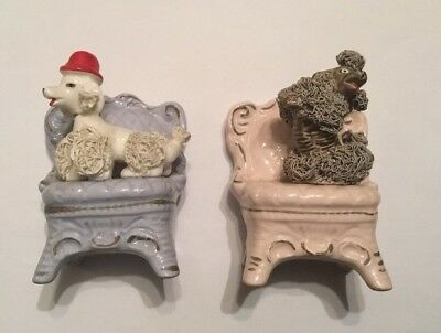 Vtg Spaghetti Poodle Debt Hat Pair Fancy Chairs