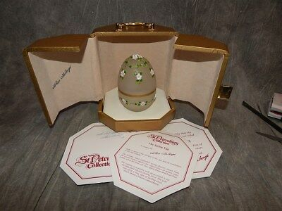 THEO FABERGE LTD EDITION SIGNED THE SPRING EGG  #43 of only 750
