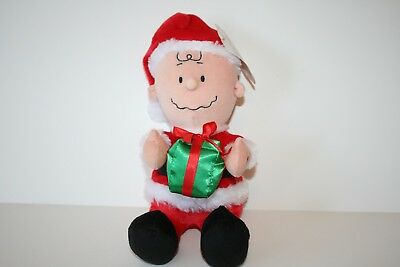 "Charlie Brown Santa Claus 12 Inch Musical Plush Figure by Gemmy ""Jingle Bells"""