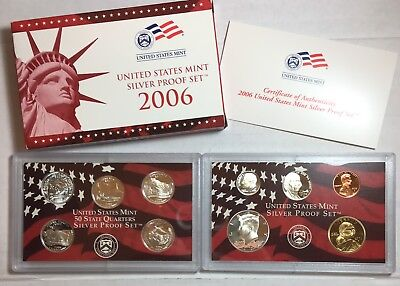 2006 US Silver Proof Set - 90% Silver PQ Proof Coins - NR Auction! Silver Coin