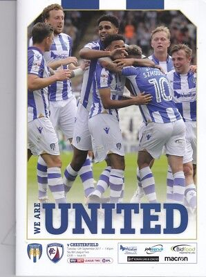 Colchester United v Chesterfield (Sky Bet League Two) 12.09.2017
