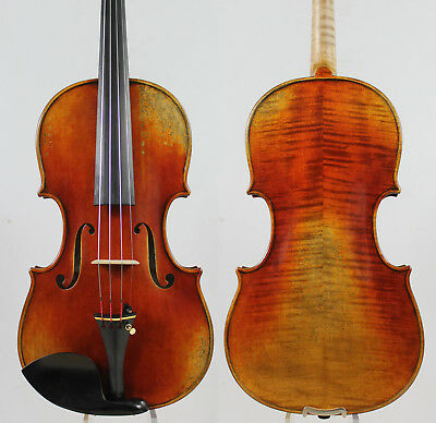 Best Model ! Antique Oil Varnish,Stradivari 4/4 Violin Copy MM2808