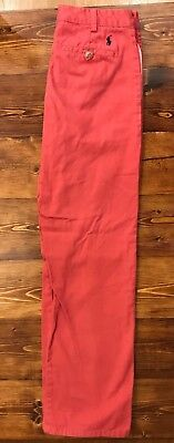 Polo Ralph Lauren Boys Chino Size 12 Outpost Red (salmon)
