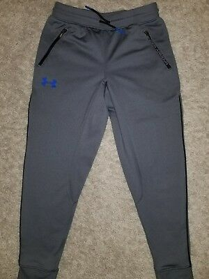 EUC BOYS Youth UNDER ARMOUR Athletic GRAY SWEAT PANTS SMALL YSM JP CH