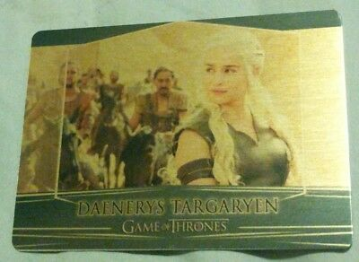 2017 Game of Thrones Valyrian Steel #4 Daenerys Gold Base Parallel 025/100