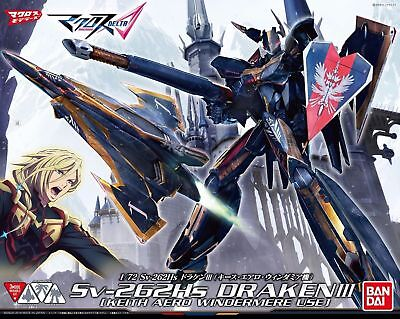 BANDAI 1/72 Sv-262Hs DRAKEN III KEITH Use Model Kit Macross Delta NEW from Japan
