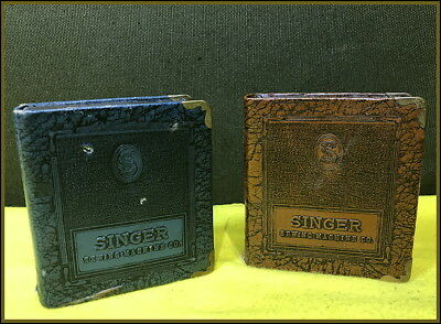 Two~ Antique Singer Sewing Machine Co. ~Book Savings Banks!!!