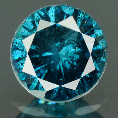 0.39 Cts BUY CERTIFIED Round Brilliant Cut Blue Color Loose Natural Diamond 4481
