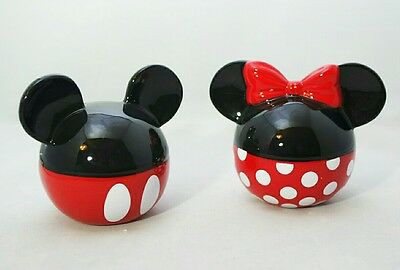Mickey & Minnie Mouse Ears Ceramic Salt & Pepper Shakers Disney Gift