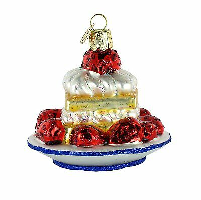 Strawberry Shortcake Old World Christmas Ornament NWT mouth blown glass