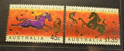 Christmas Island 2002 Year of the Horse  MUH  s6