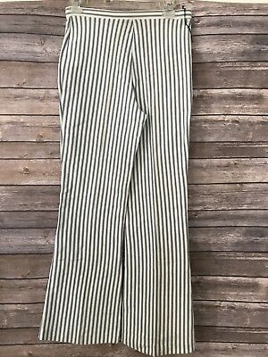 Vintage Trissi Bell Bottom Striped Women's Pants Stretchy 1970's Boho
