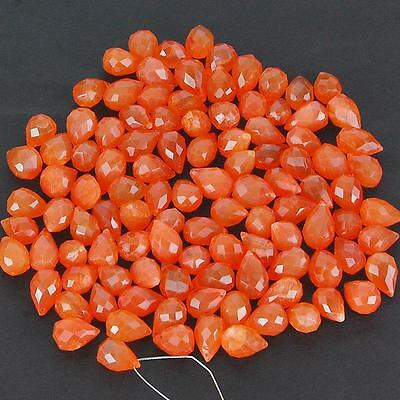 458 Cts/107 Pcs Untreated Finest Orange Natural Carnelian Drilled Briolettes