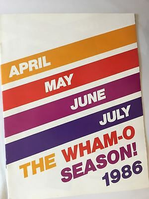 1986 WHAM-O Full Line Toy Fair Catalog Frisbee Flying Disc Water Wiggle Vintage