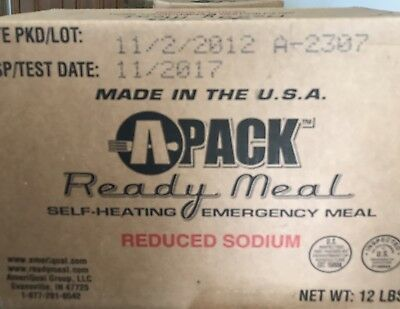 Mre's A-Pack Case of 12 Emergency Survival Meals Ready Low Sodium
