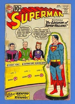 Superman #147 – Dc Comics (1961) – 1St Legion Of Super-Villains!