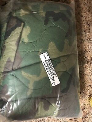 New Military Issued Camouflage Wet Weather Poncho Liner Woobie Blanket