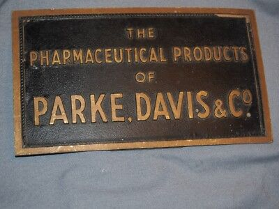 Antique Advertising Sign Pharmaceutical Products Of Parke Davis & Co