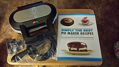 Wolfgang Puck Pie Maker BPM00025 ~ With Accessories and Cookbook!