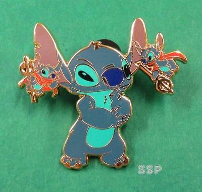 Disney Pin DLRP - STITCH with 2 Devils Whispering in his ears