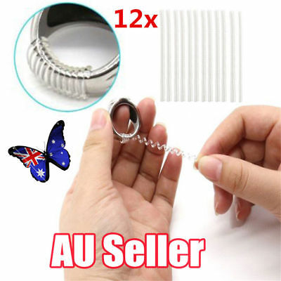 12Pcs Ring size reducers Spiral Invisible Snugs  RESIZER ADJUSTERS TOOLS ON