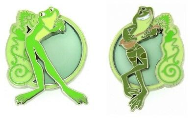 Disney Princess and the Frog Stained Glass Naveen and Tiana as frog Pin Only R5
