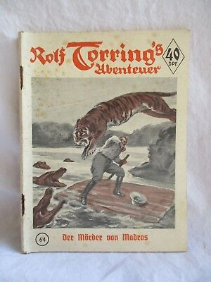 "Romanheft ""Rolf Torring's Abenteuer"",N° 64,Original,1952,old Book,Bargain,Roman"