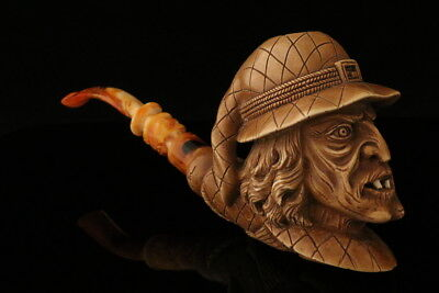 The Witch Hand Carved Meerschaum Pipe by I. Baglan in a case 8110