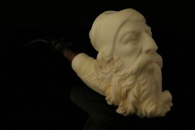 Old Man Smoking a Meerschaum Pipe of Himself by Emin Brothers +case 8114