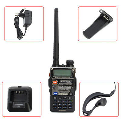 2m/70cm Baofeng UV-5R Plus Amateurfunk Radio Walkie-Talkie Hand-funkgerät CTCSS