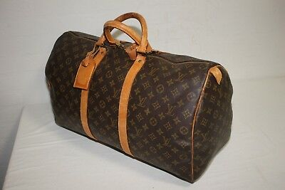 Authentic LOUIS VUITTON Monogram Keepall 50 Carry-On Travel bag