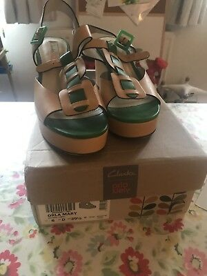 Orla Kiely (for Clarks) Summer Wedge Shoes 39/6
