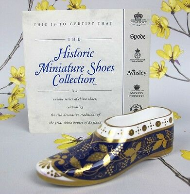 """Compton & Woodhouse SPODE miniature historic shoe collection """"Eastern Slipper"""""""