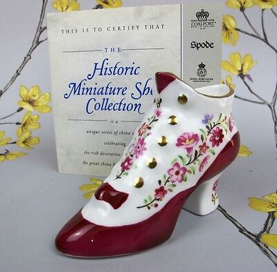 """Compton & Woodhouse Aynsley miniature historic shoe collection """"Button Boot""""."""