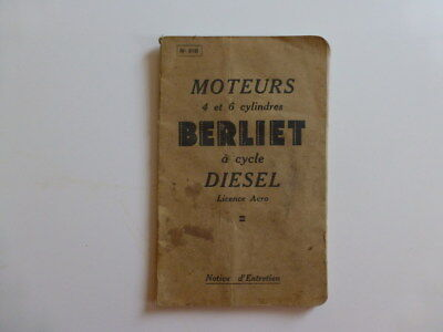 Berliet 4 – 6 Cyl A Cycle Diesel Licence Acro