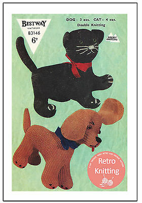 Toy Cat and Dog Knitting Pattern - Copy