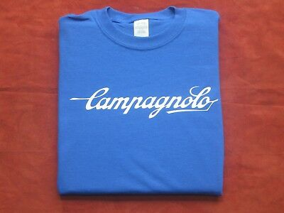 NEW Vintage Campagnolo Cycling T Shirt Blue Jersey Eroica bicycle Tshirt Tee