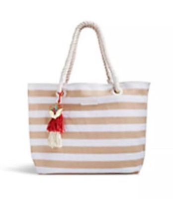 VERA BRADLEY STRIPED TOTE and COSMETIC BAG,- PAISLEY IN PARADISE - NWT