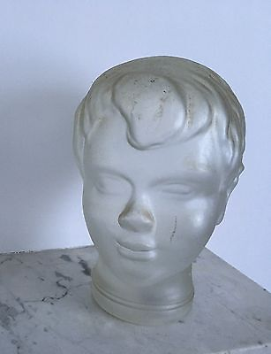 Antique Glas Head Scuplture mannequin