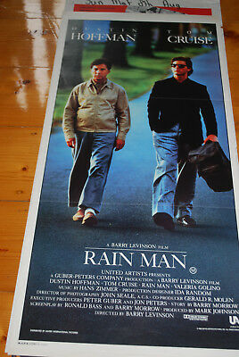 RAIN MAN -  original movie poster daybill- TOM CRUISE, DUSTIN HOFFMAN