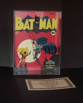 BATMAN #4 WB 3D Sculpture Shadow Box MINT Warner Brothers Studio Store Gallery