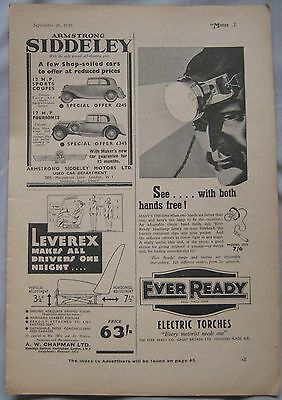 1936 Ever Ready Torches Original advert