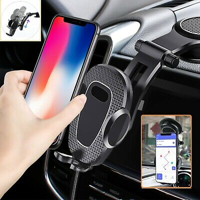 2in1 Car Air Vent Holder +Rearview Mirror Mount Stand Cradle 360° for Phone GPS